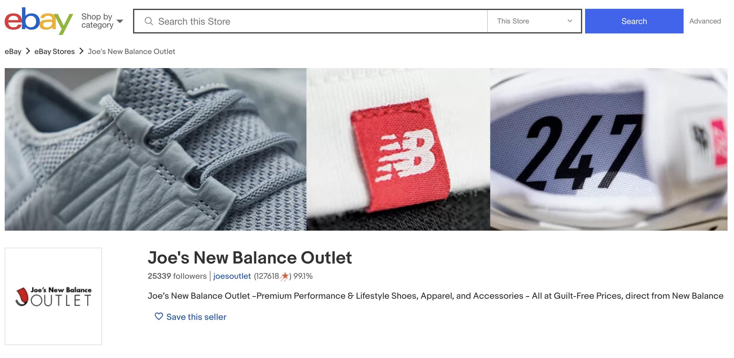 joe's new balance factory second