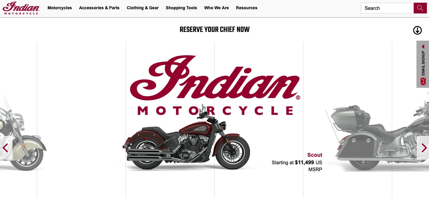Indian Motorcycle 美國買印地安重機