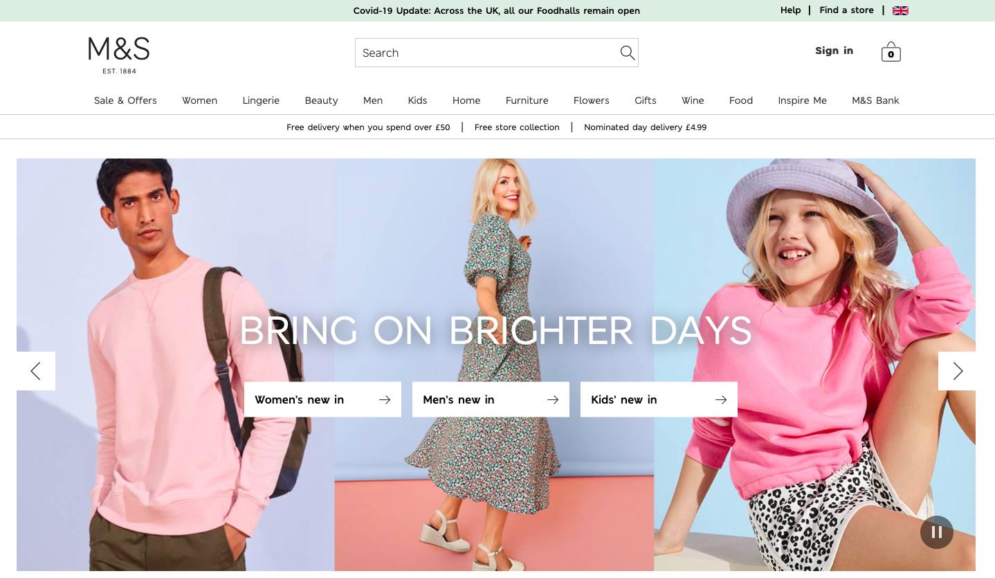 Marks & Spencer 英國買服飾
